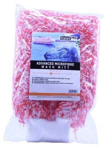 VALET PRO ADVANCED MICROFIBRE WASH MITT RED 30X18X3CM