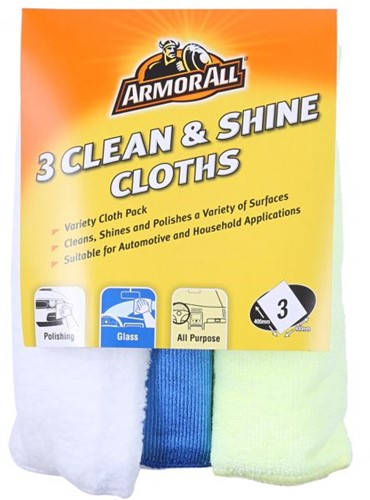 ARMOR ALL POETSDOEKEN CLEAN & SHINE 3-DELIG