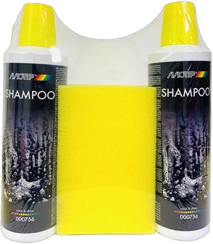 MOTIP SHAMPOO  2x500ML + SPONS