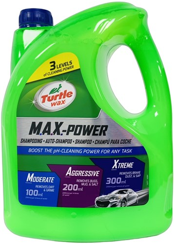TURTLE WAX MAX POWER CARWASH AUTO SHAMPOO 4L
