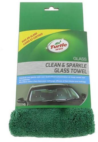 TURTLE WAX CLEAN & SPARKLE GLASS TOWEL MICROVEZEL GLASDOEK EN ZEEM