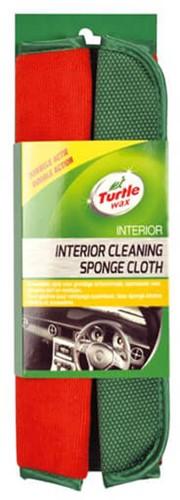 TURTLE WAX INTERIOR CLEANING SPONGE CLOTH – INTERIEURDOEK POETSDOEK MET SCRUB EN MICROVEZEL KANT